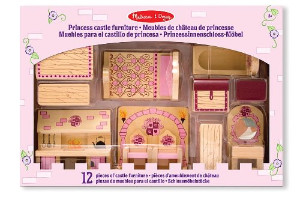 Melissa & Doug Princess Castle Wooden Dollhouse Furniture