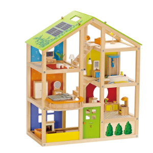 Hape All Seasons Kid's Wooden Doll House