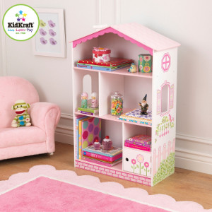 KidKraft dollhouse bookshelf