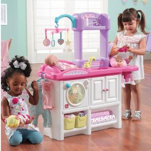 Accessories and Baby Doll with sound. Baby Doll Playset with Stroller