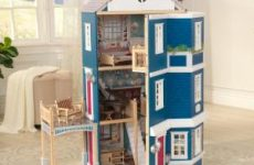 Wooden Dollhouses for Toddlers and Kids
