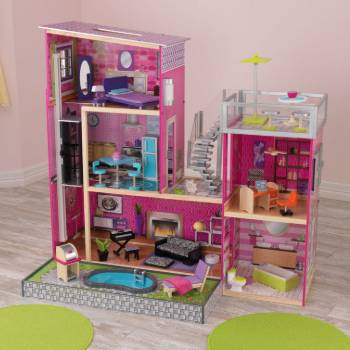 10 KidKraft Uptown Dollhouse with Furniture Review in 2020